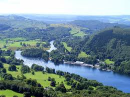 Looking down from Gummers's How to lake Windermere