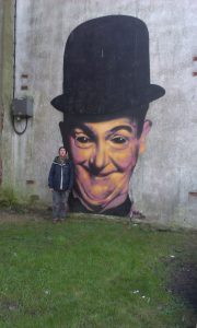 Mural of Stan Laurel