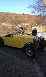 Vintage cars at Backbarrow