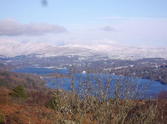 Looking down onto lake Windermere